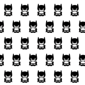 Kawaii Masked Bat Superhero Stripes