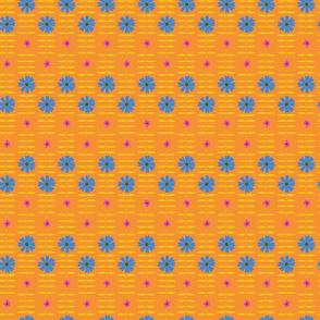 BETTY FLORAL orange blue