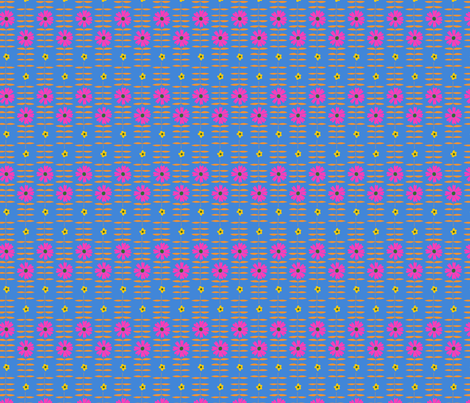 BETTY FLORAL blue pink fabric by lenazembrowskij on Spoonflower - custom fabric