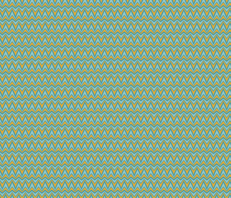 Folky Dokey-Bargello in Aqua-Celebrate colorway fabric by groovity on Spoonflower - custom fabric