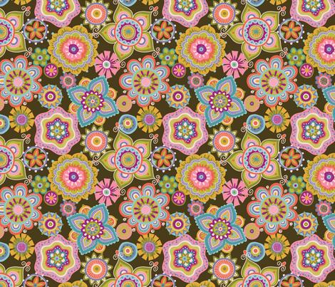 Folky Dokey-Boho-Celebrate colorway fabric by groovity on Spoonflower - custom fabric