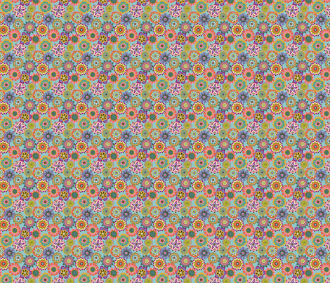 Folky Dokey-Buttons in Aqua-Celebrate colorway fabric by groovity on Spoonflower - custom fabric
