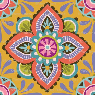 Folky Dokey-Ceramique in Marigold-Celebrate colorway