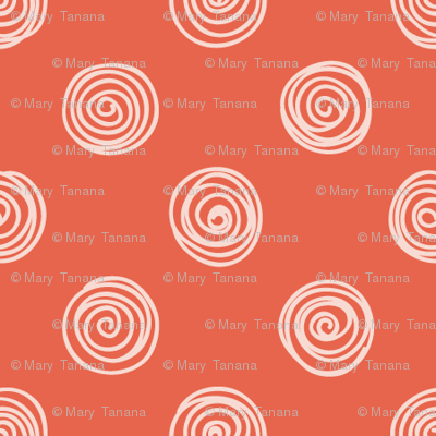 Folky Dokey-Spirals in Flame-Celebrate colorway