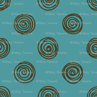 Folky Dokey-Spirals in Water-Celebrate colorway