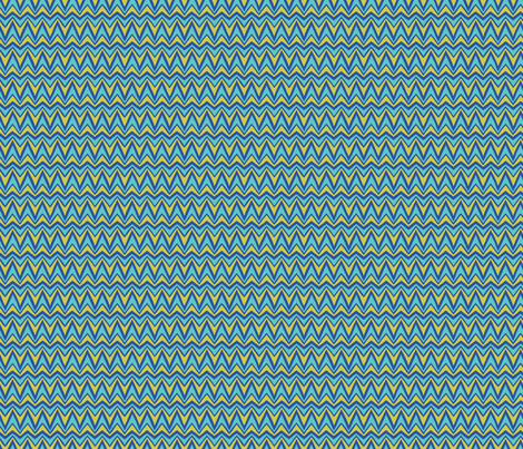 Folky Dokey-Bargello in Cobalt-Dream colorway fabric by groovity on Spoonflower - custom fabric