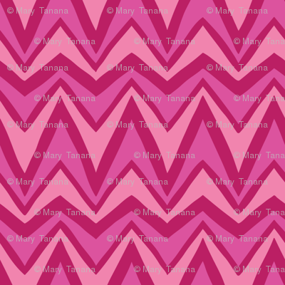 Folky Dokey-Bargello in Pink-Dream colorway