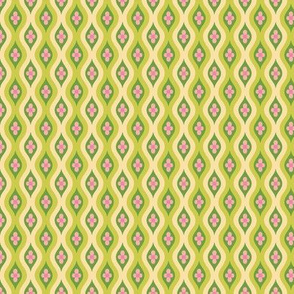 Folky Dokey-Golly Ogee in Lime-Dream colorway