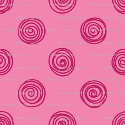 Folky Dokey-Spirals in Pink-Dream colorway