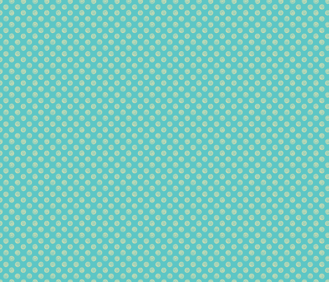 Folky Dokey-Spirals in Turquoise-Dream colorway fabric by groovity on Spoonflower - custom fabric