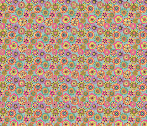 Folky Dokey-Buttons in Sea-Gypsy Soul colorway fabric by groovity on Spoonflower - custom fabric