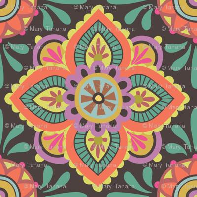 Folky Dokey-Ceramique in Chocolate-Gypsy Soul colorway