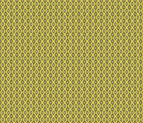 Folky Dokey-Golly Ogee in Olive-Gypsy Soul colorway fabric by groovity on Spoonflower - custom fabric