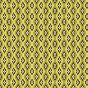 Folky Dokey-Golly Ogee in Olive-Gypsy Soul colorway