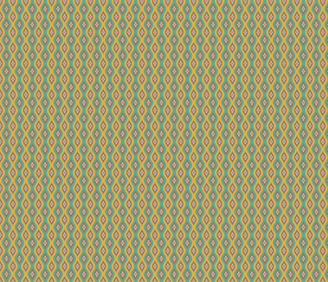 Folky Dokey-Golly Ogee in Teal-Gypsy Soul colorway fabric by groovity on Spoonflower - custom fabric
