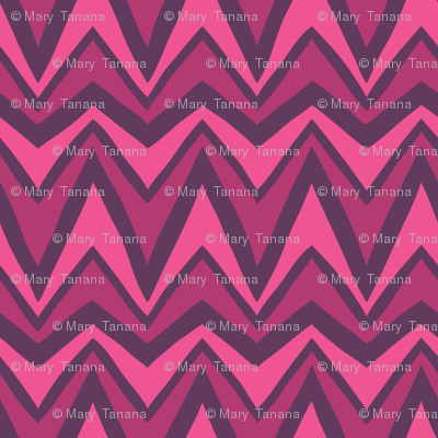 Folky Dokey-Bargello in Fuchsia-Imagine colorway