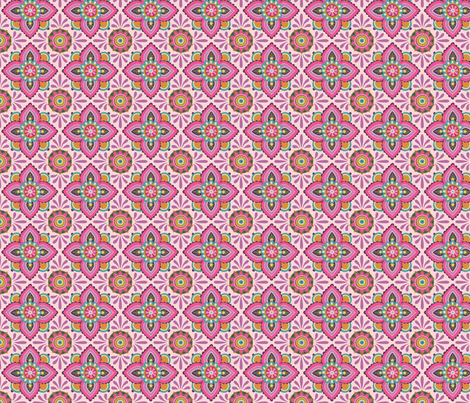 Folky Dokey-Ceramique in Shell-Imagine colorway fabric by groovity on Spoonflower - custom fabric