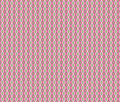 Folky Dokey-Golly Ogee in Shell-Imagine colorway fabric by groovity on Spoonflower - custom fabric