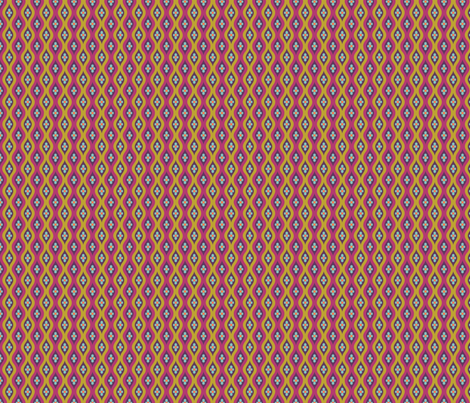Folky Dokey-Golly Ogee in Violet-Imagine colorway fabric by groovity on Spoonflower - custom fabric