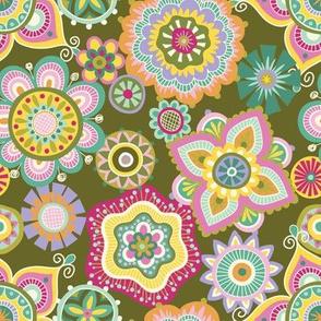 Folky Dokey-Boho-Serenity colorway