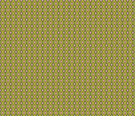 Folky Dokey-Golly Ogee in Army-Serenity colorway fabric by groovity on Spoonflower - custom fabric