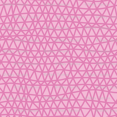 Folky Dokey-Woven in Rose-Serenity colorway