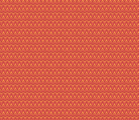 Folky Dokey-Bargello in Tomato-Wanderlust colorway fabric by groovity on Spoonflower - custom fabric