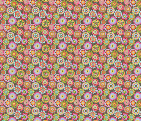 Folky Dokey-Buttons in Earth-Wanderlust colorway fabric by groovity on Spoonflower - custom fabric