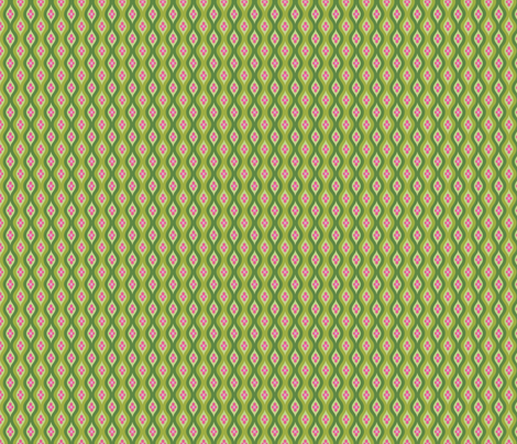 Folky Dokey-Golly Ogee in Fern-Wanderlust colorway fabric by groovity on Spoonflower - custom fabric