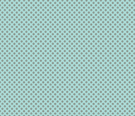 Folky Dokey-Spirals in Aqua-Wanderlust colorway fabric by groovity on Spoonflower - custom fabric