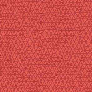 Folky Dokey-Woven in Tomato-Wanderlust colorway