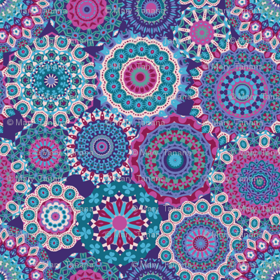 Millefiori Mandalas_Berry Good Colorway