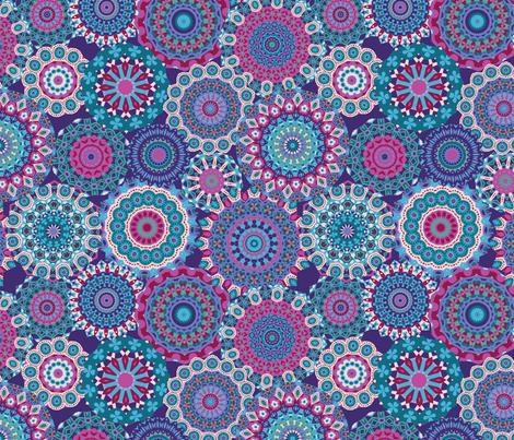 Millefiori Mandalas_Berry Good Colorway fabric by groovity on Spoonflower - custom fabric