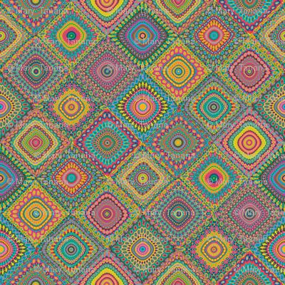 Granny's Cheater Quilt_Eden Colors