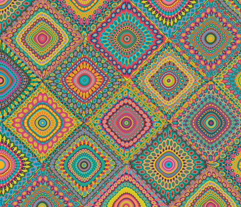 Granny's Cheater Quilt_Eden Colors fabric by groovity on Spoonflower - custom fabric