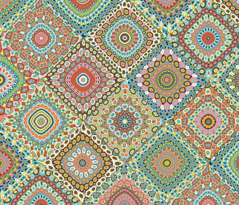 Granny's Cheater Quilt_Retro Colorway fabric by groovity on Spoonflower - custom fabric