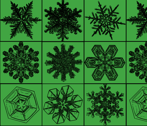 snowflakes4 fabric by craftyscientists on Spoonflower - custom fabric