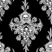 Skull Flower Damask - nano