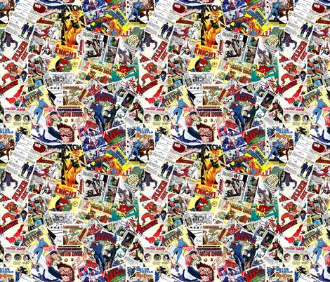 vintage comic book heroes fabric by janbalaya on Spoonflower - custom fabric