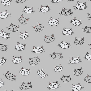 Catface on grey background