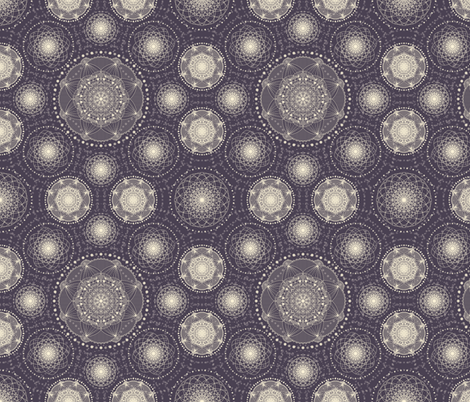Spirograph lace - purple and cream fabric by debbiekavanagh*art&design on Spoonflower - custom fabric