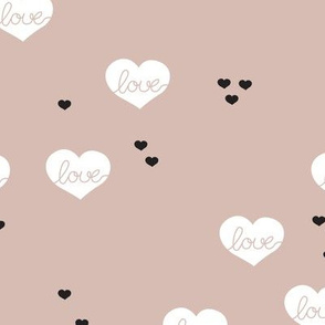 Sweet love scandinavian hearts cool pastel valentine and wedding theme
