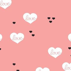 Sweet love scandinavian hearts cool pastel blue valentine and wedding theme pink