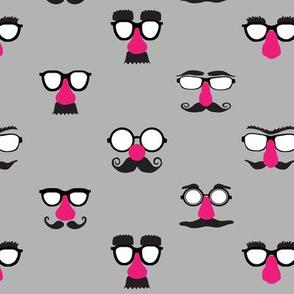 Noze Bros Pink Mustache Face