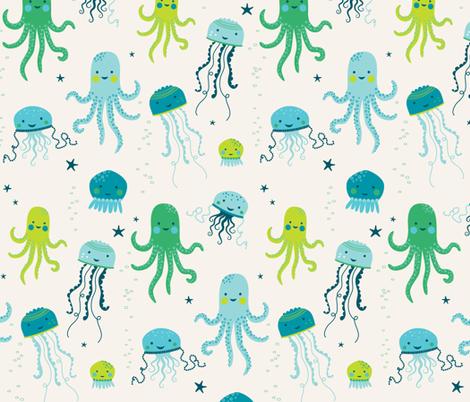 Ocean Fun Jellyfish fabric by zesti on Spoonflower - custom fabric