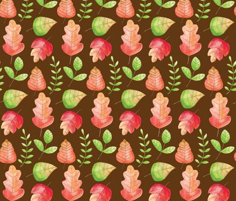 October Leaves fabric by lisa_kubenez on Spoonflower - custom fabric