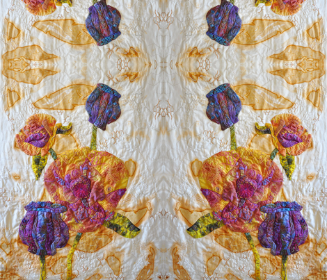 The Ubiquitous Poppy fabric by arlee on Spoonflower - custom fabric
