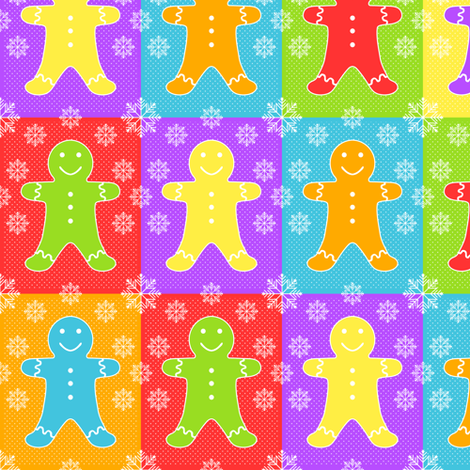 Gingerbread Pop Art fabric by jjtrends on Spoonflower - custom fabric