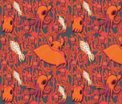 Dumbo Octopi & Squid-Mix fabric by amyjeanne_wpg on Spoonflower - custom fabric