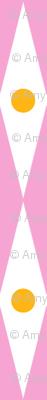 Small World (Pink) || circus diamond stripe polka dot crown royal geometric carnival fair harlequin children kids baby nursery pastel